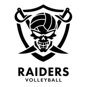 Raiders Volleyball logo