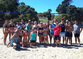 Masters Beach Group Photo Apr16